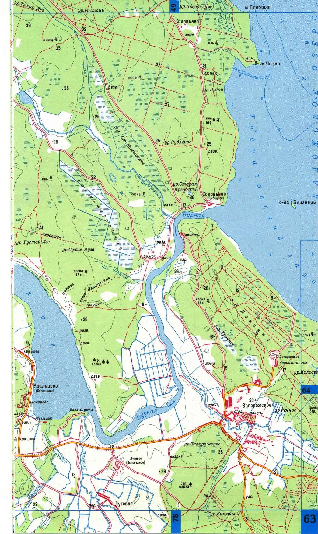карта рыбалки в лен обл