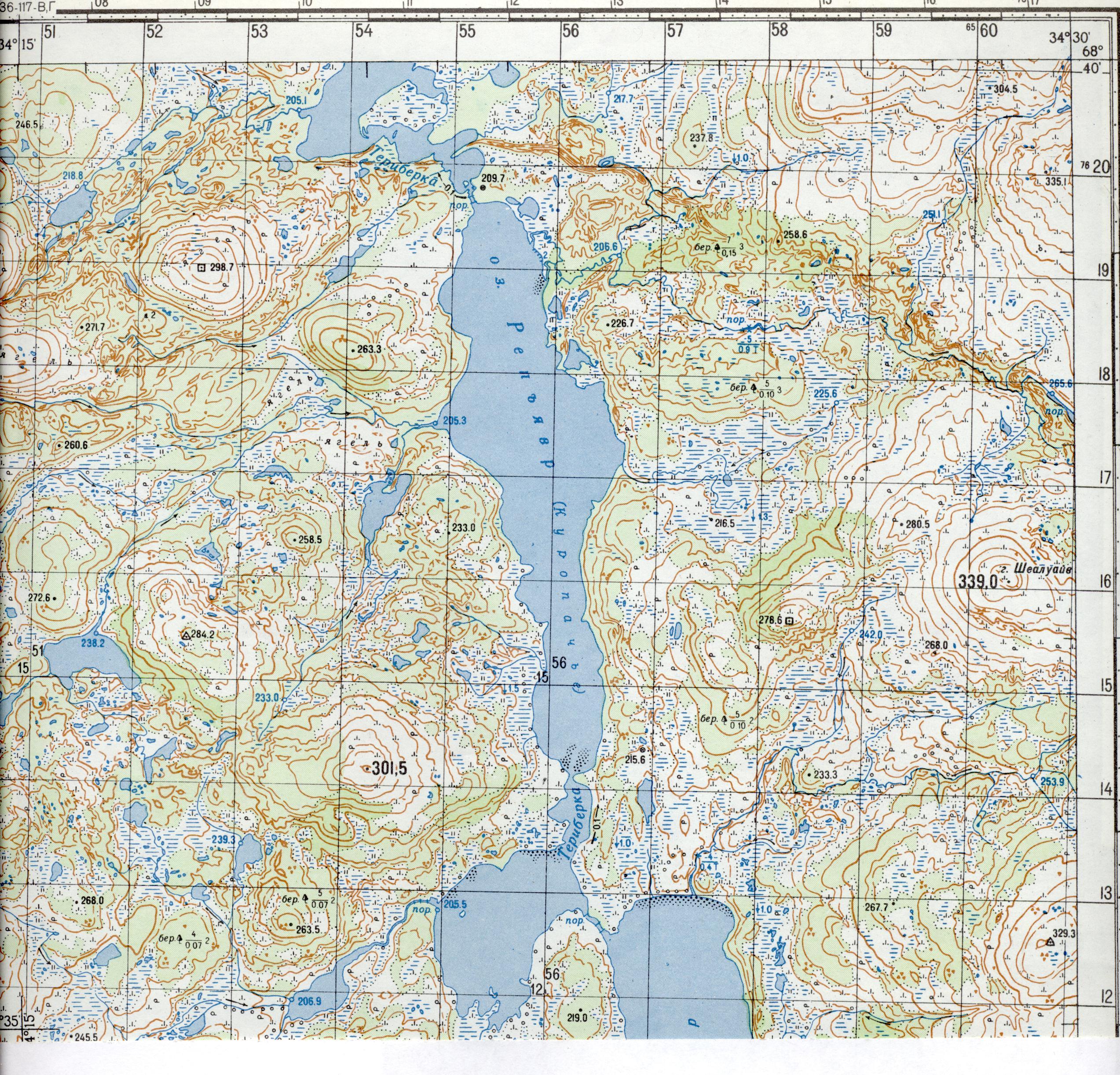 военные карты мурманской области для рыбаков и охотников