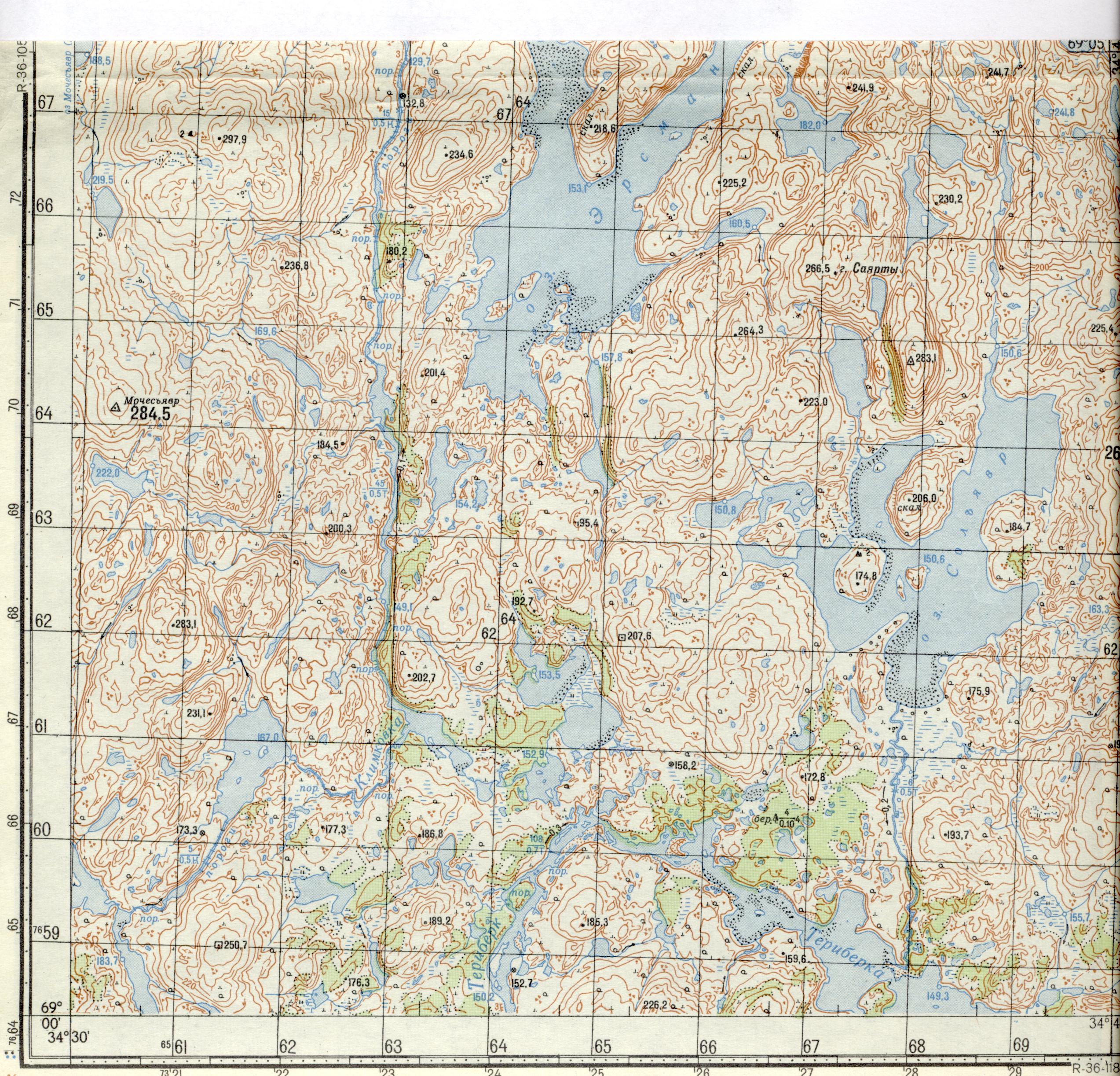 рыболовные карта кольского
