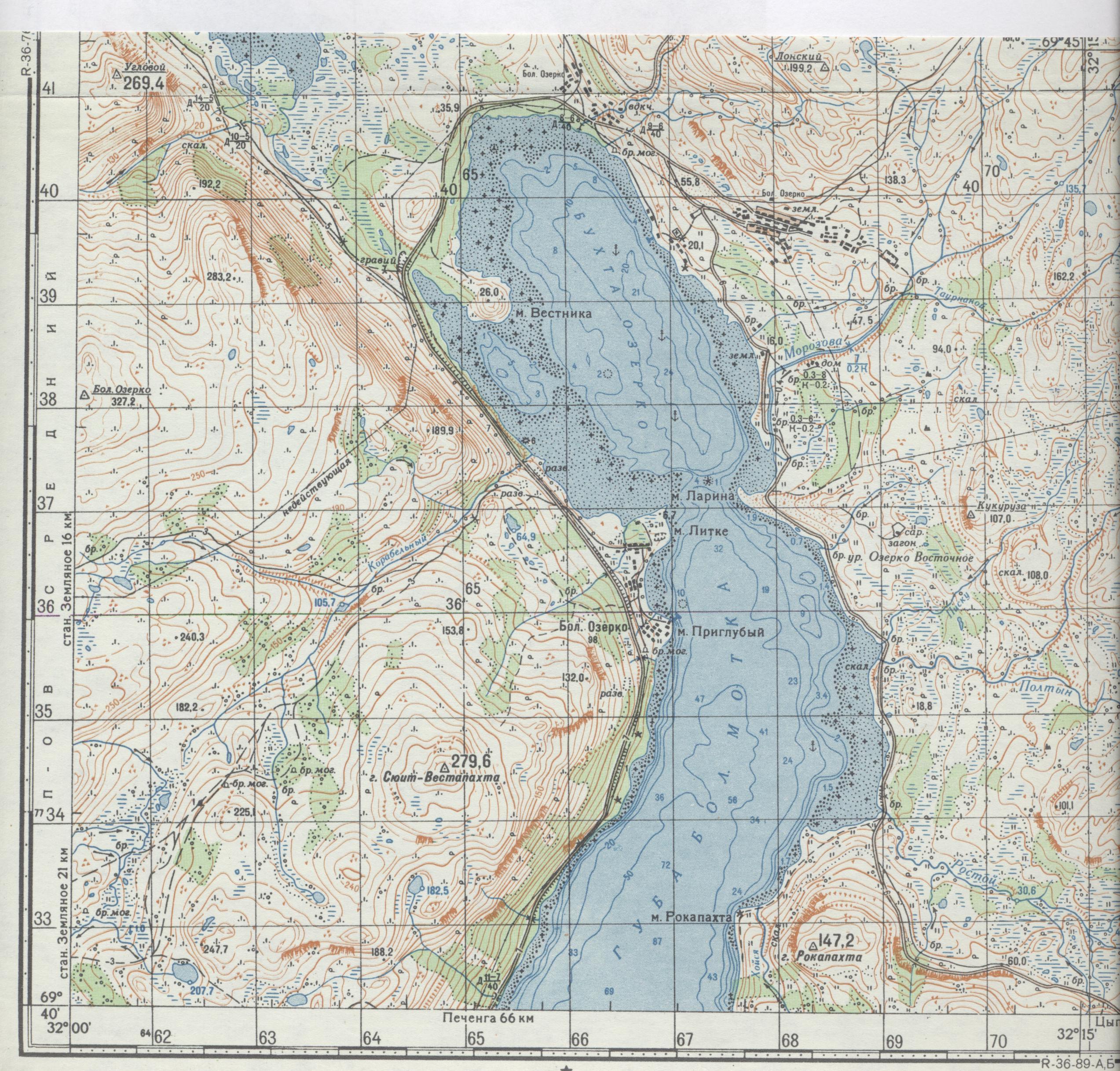 карта мурманск рыболовная
