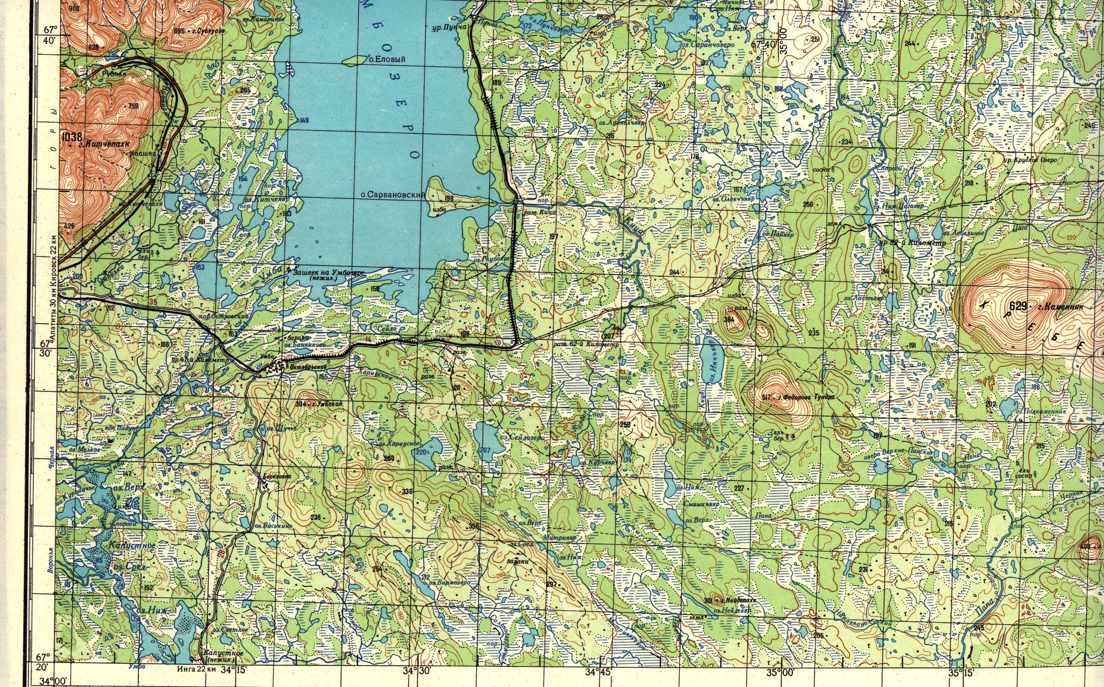 карты для рыбалки в мурманской области