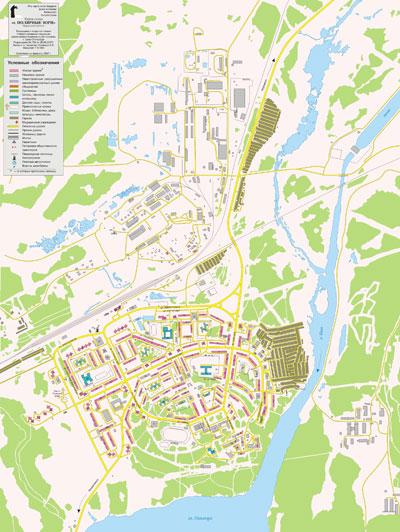 Полярные Зори, карта-схема